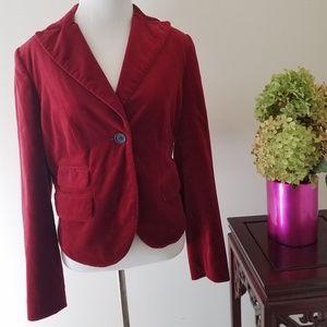 The Limited size 6 red velvet blazer